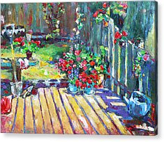 Home Where True Beauty Is Planted Acrylic Print by Becky Kim