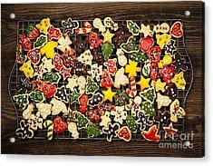 Homemade Christmas Cookies Acrylic Print by Elena Elisseeva