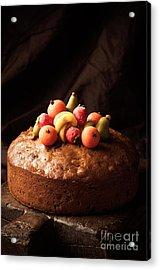 Homemade Rich Fruit Cake Acrylic Print by Amanda And Christopher Elwell