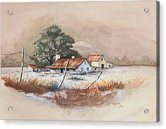 Homestead Acrylic Print by Bob Hallmark