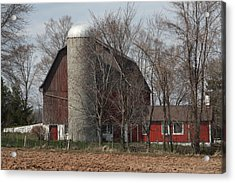 Homestead Farm Acrylic Print by Nancy TeWinkel Lauren