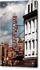 Homestead Steakhouse Acrylic Print by John Rizzuto