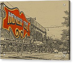 Honest Eds On Markham Street Acrylic Print by Nina Silver