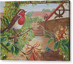 Honey Birds Acrylic Print by David Paterson