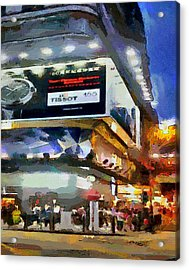 Hong Kong Night Lights 1 Acrylic Print by Yury Malkov