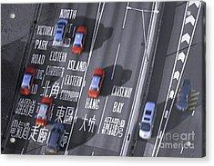 Hong Kong Taxi Acrylic Print by Lars Ruecker