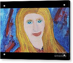 Honoring Barbra Streisand Number 1 Acrylic Print by Richard W Linford