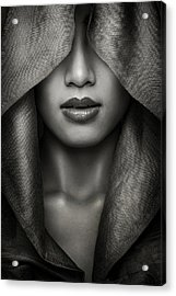 Hood Acrylic Print by Azalaka