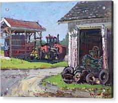 Hoover Farm In Sanborn Acrylic Print by Ylli Haruni