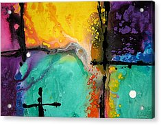 Hope - Colorful Abstract Art By Sharon Cummings Acrylic Print by Sharon Cummings