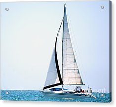 Hope Floats Sailboat From The Book My Ocean Acrylic Print by Artist and Photographer Laura Wrede
