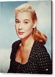 Hope Lange Acrylic Print by Silver Screen