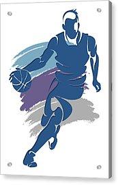 Hornets Basketball Player1 Acrylic Print by Joe Hamilton