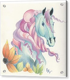 Horse Of A Different Colour Acrylic Print by Kirsten Slaney