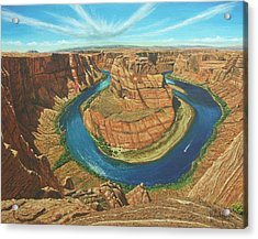 Horseshoe Bend Colorado River Arizona Acrylic Print by Richard Harpum