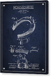Horseshoe Patent Drawing From 1898 Acrylic Print by Aged Pixel