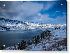Horsetooth Reservoir Looking North Acrylic Print by Harry Strharsky