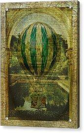 Hot Air Balloon Voyage Acrylic Print by Sarah Vernon