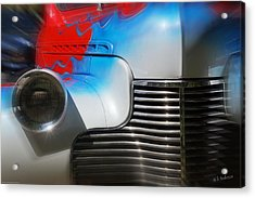 Hot Chevy Acrylic Print by Mick Anderson