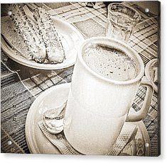 Hot Chocolate In Cold Ushuaia Acrylic Print by Julie Palencia