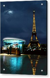 Hot Dog In Paris Acrylic Print by Mike McGlothlen
