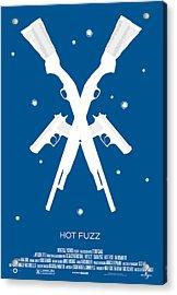 Hot Fuzz Cornetto Trilogy Custom Poster Acrylic Print by Jeff Bell