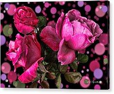 Hot Pink Trio Acrylic Print by Sylvia Thornton