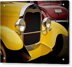 Hot Rod Fords Acrylic Print by Ron Roberts