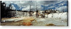 Hot Spring On A Landscape, Angel Acrylic Print by Panoramic Images