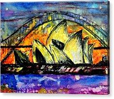Hot Sydney Night Acrylic Print by Lyndsey Hatchwell