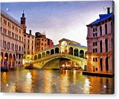 Hot Venetian Nights Acrylic Print by Georgiana Romanovna