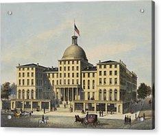 Hotel Burnet Circa 1850 Acrylic Print by Aged Pixel