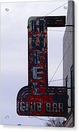 Hotel Club And Bar  Plentywood Montana Acrylic Print by Jeff Swan