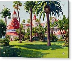 Hotel Del Coronado Acrylic Print by Mary Helmreich