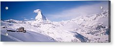 Hotel On A Polar Landscape, Matterhorn Acrylic Print by Panoramic Images