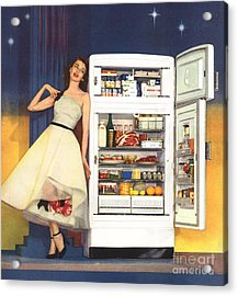 Hotpoint 1951 1950s Usa Fridges Acrylic Print by The Advertising Archives