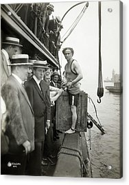 Houdini Escape Stunt Acrylic Print by Library Of Congress