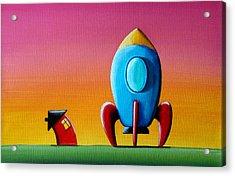 House Builds A Rocketship Acrylic Print by Cindy Thornton