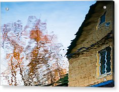 House By The Lake Acrylic Print by Alexander Senin