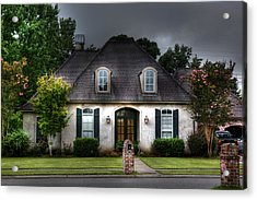 House In Hdr Acrylic Print by Cecil Fuselier