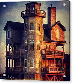 House In Rodanthe At Sunset Acrylic Print by Patricia Januszkiewicz