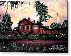 House In Sergeiev Posad   Acrylic Print by Sarah Loft