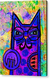 House Of Cats Series - Paws Acrylic Print by Moon Stumpp