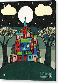 House Of The Crow Acrylic Print by Margaryta Yermolayeva