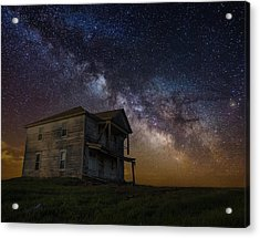 House On The Hill   Remastered Acrylic Print by Aaron J Groen