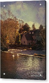 House On The River Acrylic Print by Amanda Elwell