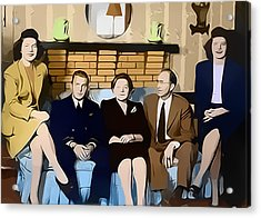1950s Portraits Acrylic Print featuring the digital art House Party by Steven Weakley