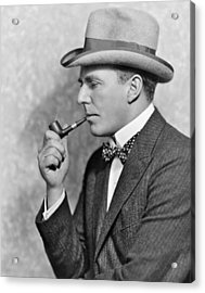 House Peters Smoking A Pipe Acrylic Print by Underwood Archives