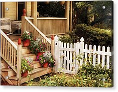 House - Rutherford Nj - My Grandmother's Garden  Acrylic Print by Mike Savad