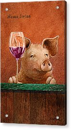 House Swine... Acrylic Print by Will Bullas